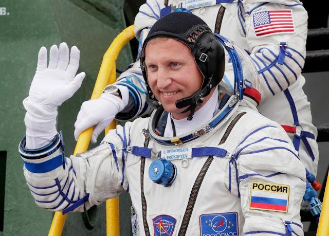 russian cosmonaut Sergey Prokopyev