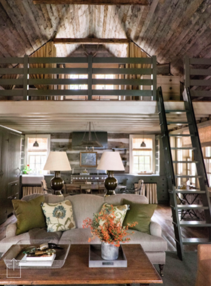 Wall Colour Inspiration: A Picture Perfect Log Cabin