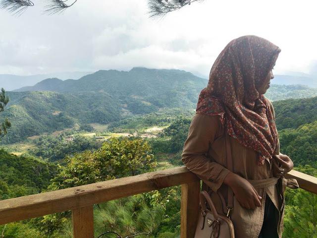 pemandangan di rumah pohon pabangbon
