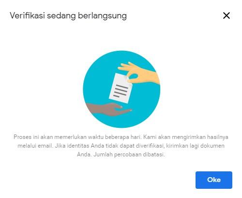 Cara verifikasi Identitas dengan upload KTP untuk pembayaran Adsense