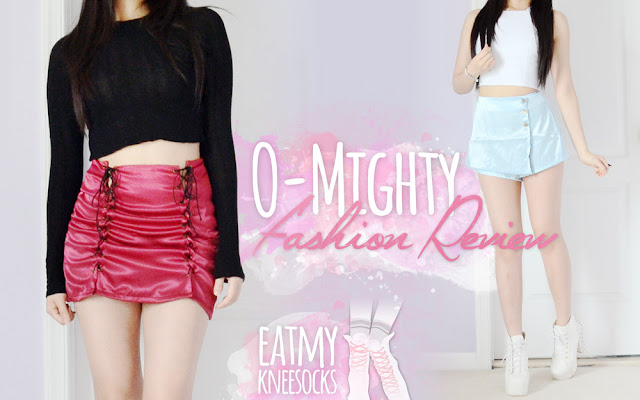 Today I'll be reviewing two pieces from a brand that's become one of my latest obsessions: O-Mighty! I recently bought their Silk Kitten skort and Xtina skirt, two uniquely-designed, one-of-a-kind silk pieces that you can't find anywhere else. - Eat My Knee Socks / Mimchikimchi