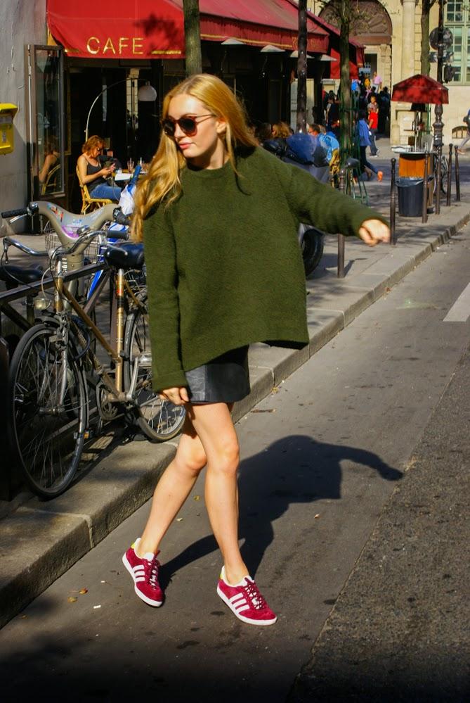 taille 40 d9518 a2dfa Adidas Femme Femme Adidas Porté Silo Silo Gazelle Gazelle ...