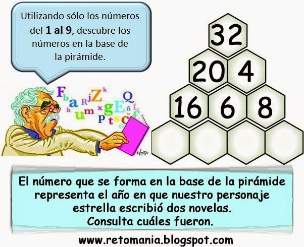 Pirámides, Descubre el Número, Retos matemáticos, Desafíos matemáticos, Problemas matemáticos, problemas para pensar