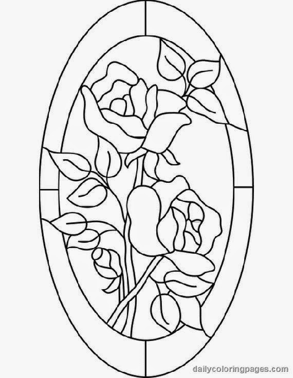 Glass Windows: Stained Glass Window Coloring Pages