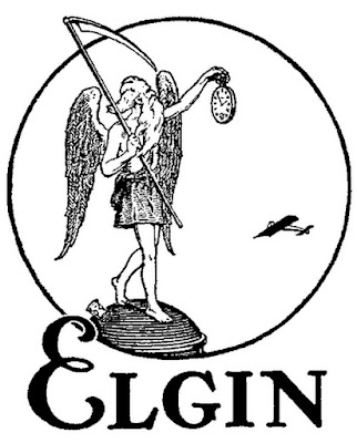 Logo for the Elgin Watch Company in the USA, 100 years ago