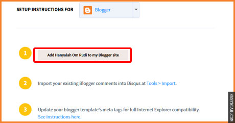 Komentar Disqus di Blogspot