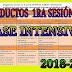 Productos CTE Fase Intensiva 1ra. Sesión 2018-2019