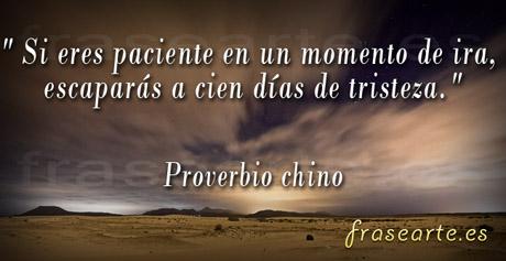 Proverbio Chino - sobre la paciencia