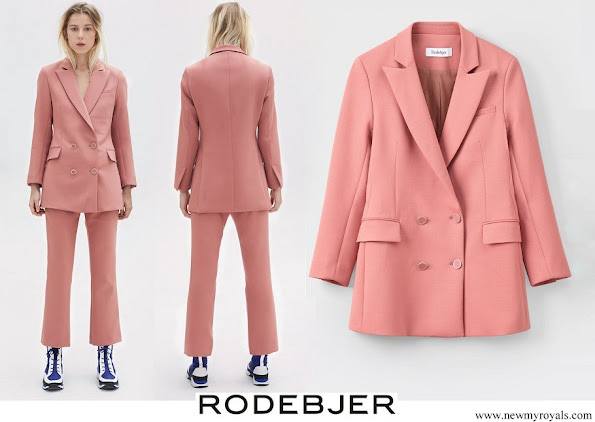 Crown Princess Victoria wore Rodebjer Nera Pink Blazer and Trousers