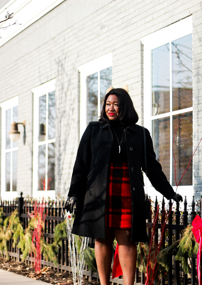 How to Wear Plaid Skirt