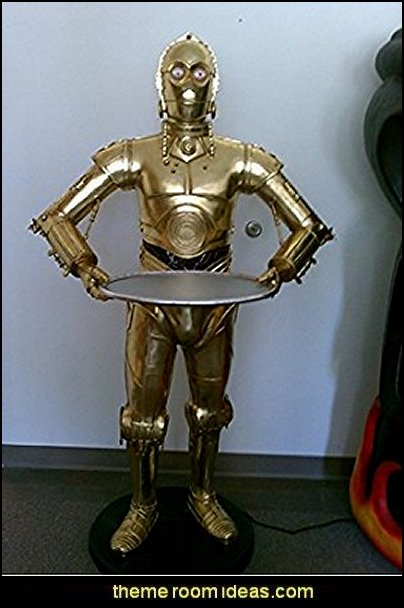 C3P0 Star Wars Prop Display Android Robot Life Size Statue    Star Wars Bedrooms - Star Wars Furniture - Star Wars wall murals - Star Wars wall decals - Star Wars bed - space ships theme beds - Star Wars Bedroom - Star Wars Decor - Sci Fi theme bedrooms - alien theme bedrooms - Stormtrooper Star Wars Theme Beds - Star Wars bedroom decor