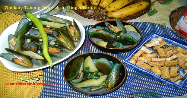 Tinolang Tahong (Mussels In Ginger Broth) Recipe