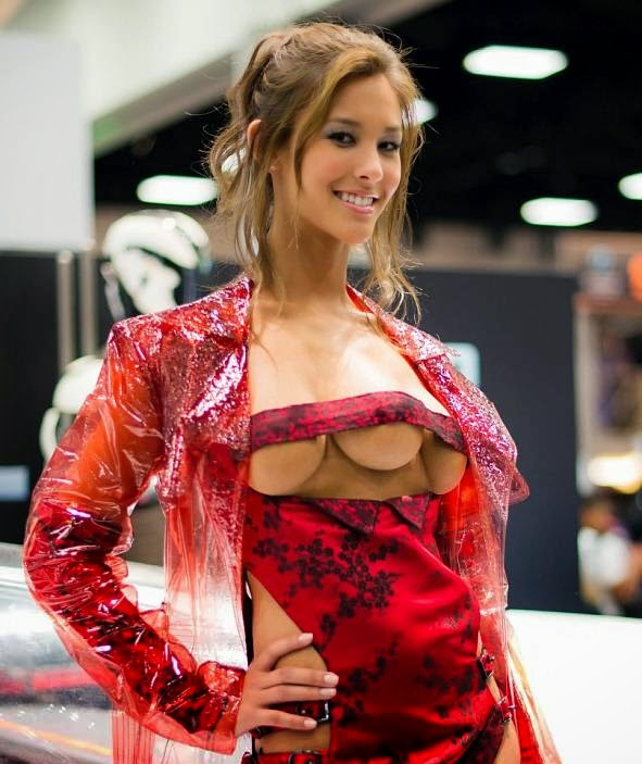 Woman with 3 breasts real or fake