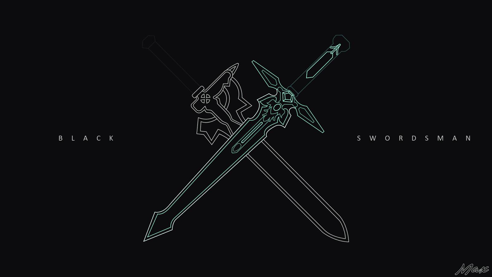 Elucidator X Dark Repulser SAO Wallpaper