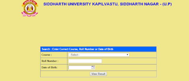 Siddharth University Kapilvastu result 2019