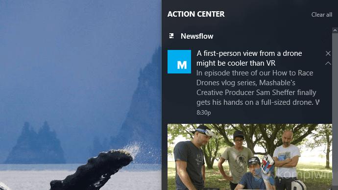 notifikasi aplikasi windows 10