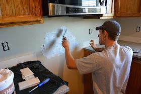 Mixin Mom Diy Kitchen Re Do With Subway Tile Backsplash