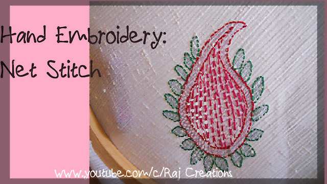 how to do jali (net) embroidery