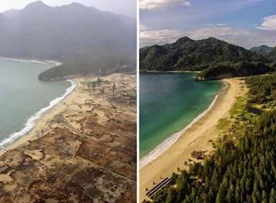 Gambar Alam Saat Tsunami Dan sekarang Di Aceh