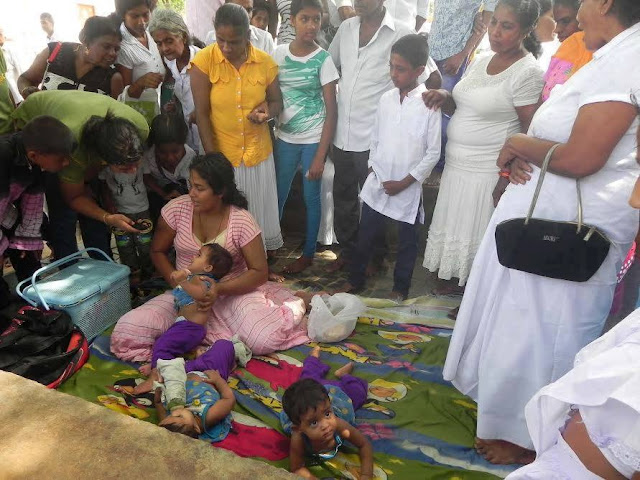 Disabled army soldier's family in Kataragama