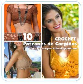 10 patrones de corpiños para tejer al crochet