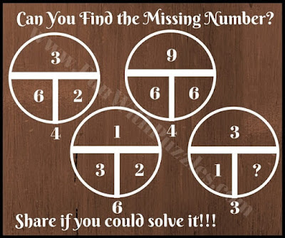Circle Maths Picture Puzzle to find the missing number
