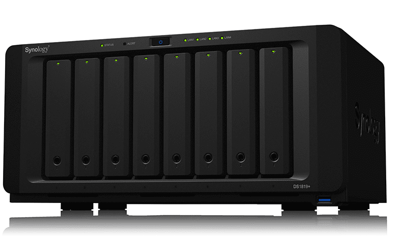 The DiskStation DS1819+ 8-bay desktop NAS