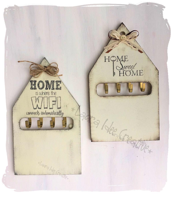 Laura idee creative portachiavi da parete in legno a for Nuova casa in stile