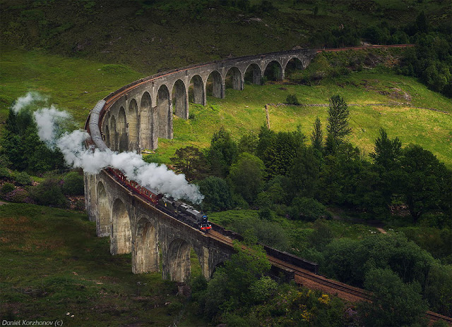 Bridge Glenfinnan Viaduct Scozia