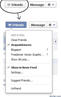 Acquaintances Facebook, cuma kenal