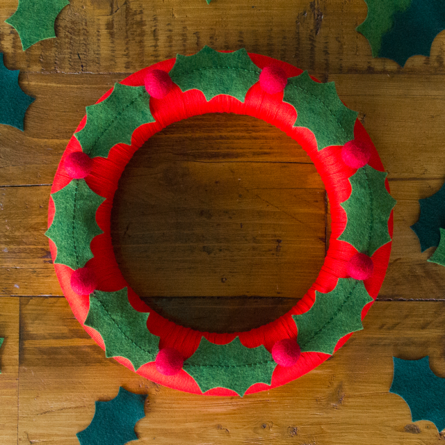 A Year of Wreaths: November Holly Wreath (+ 20% off my book!)