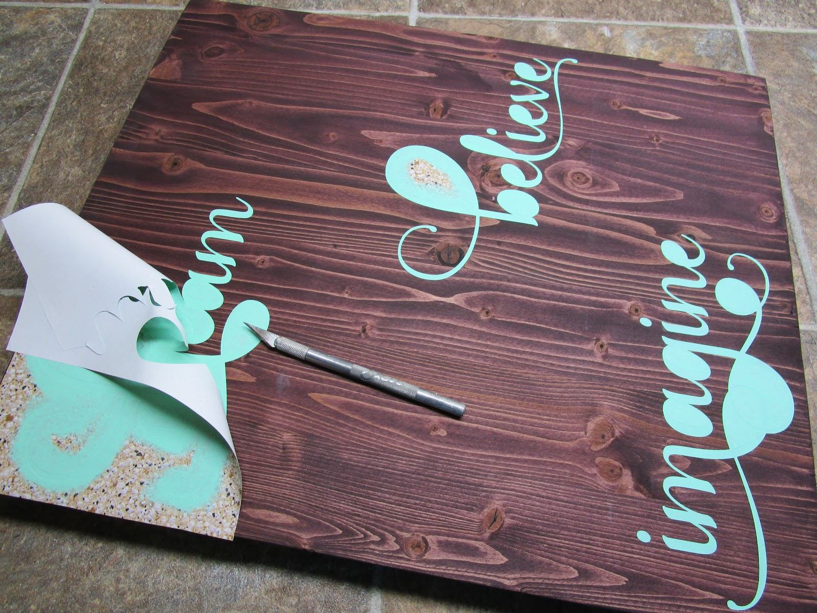 Northwoods Attic How To Create A Painted Wood Sign With