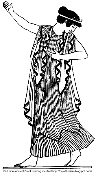 greek dancers coloring pages - photo#8