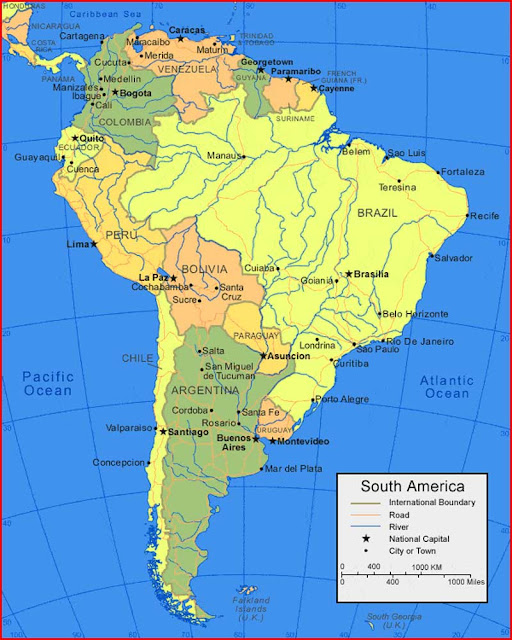 image: South America Map