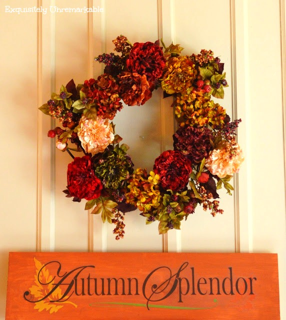Fall Sign and Wreath