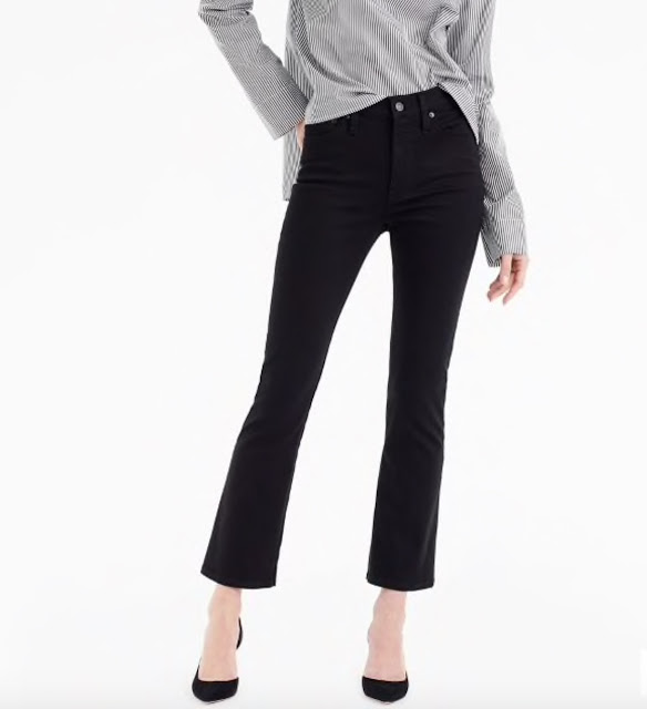 J Crew Billie demi boot cropped jeans