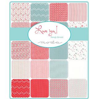 Moda Love You Fabric by Sandy Gervais for Moda Fabrics