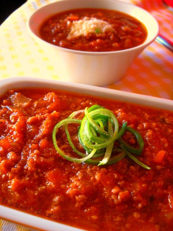 Salsa boloñesa especial con licuado de pimiento rojo (ideal para pasta, lasaña o pizzas)