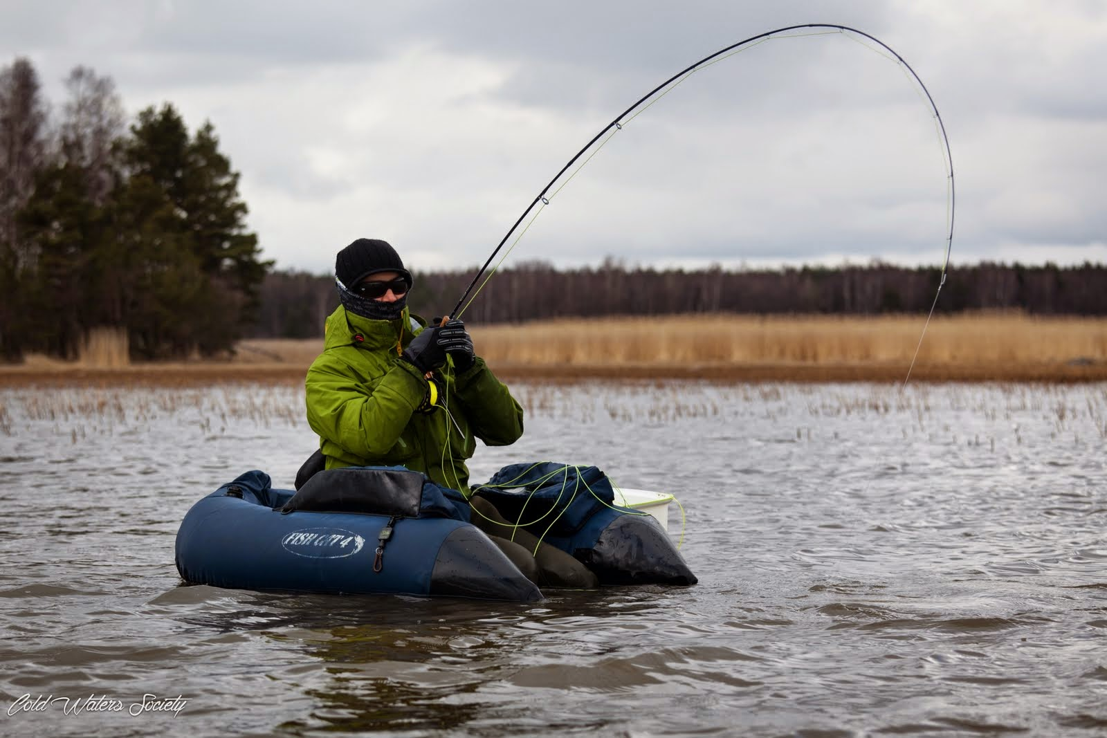 Cold waters society my tips for float tube fishing for Float tubes for fishing
