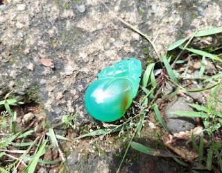 Liontin Batu Green Chalcedony Indah AK004 Memo By DGL
