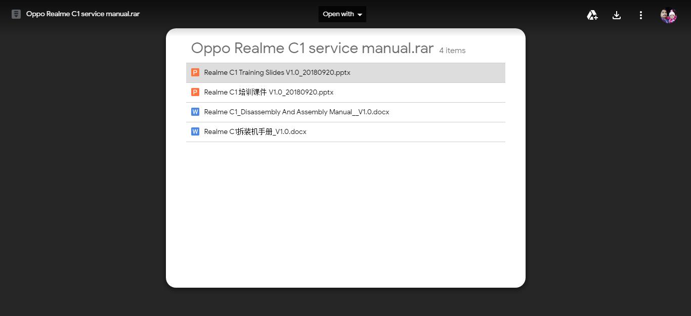 Oppo Realme C1 Service Manual