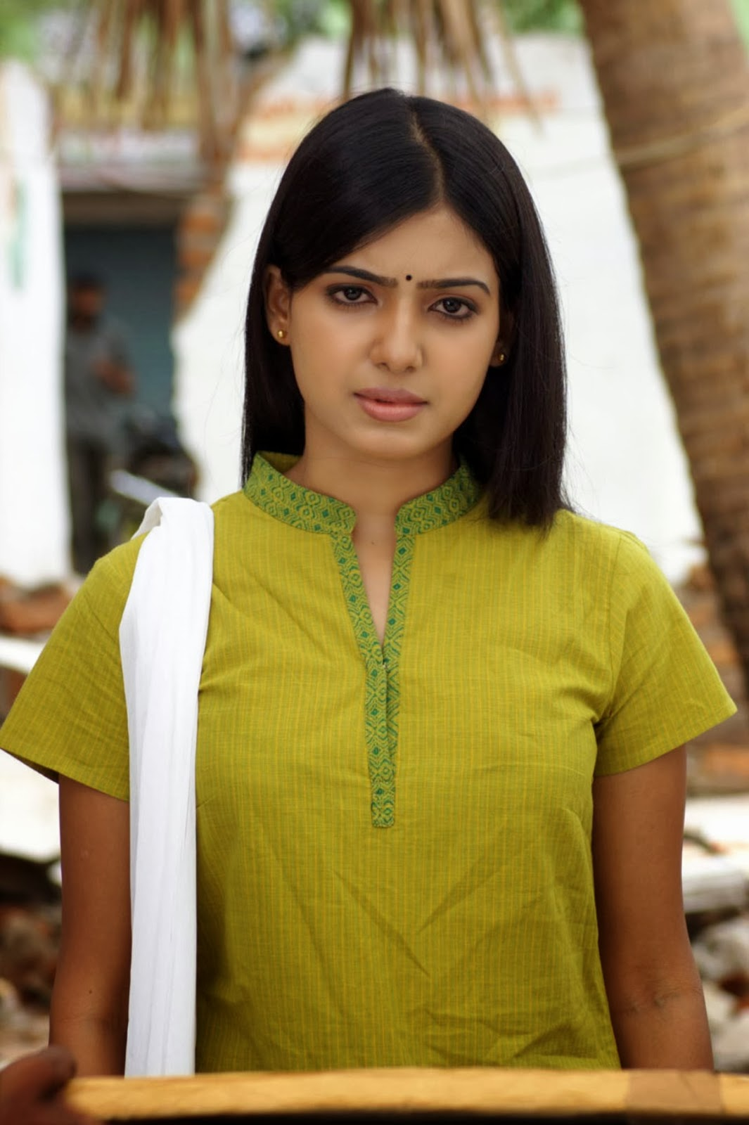 Samantha In Saree: Telugu Movie Actress Samantha Cute Churidar Photos
