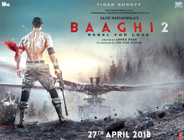 First Look Poster of Tiger Shroff Baaghi 2