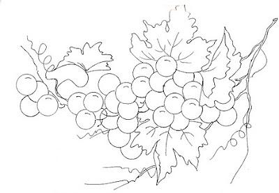 pintura-em-tecido uvas risco