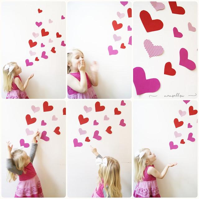 Bastelanleitung, DIY, einfach, Valentinstagskarte, Tutorial, Küsse verschicken, Valentinstag, Herzen aus Ölkreide, Herzbotschaft,