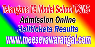 Telangana TS Model School TSMS 6th 7th 8th 9th 10th Class Inter 1st Year Admission Online Apply Exam Halltickets Result 2016 Download
