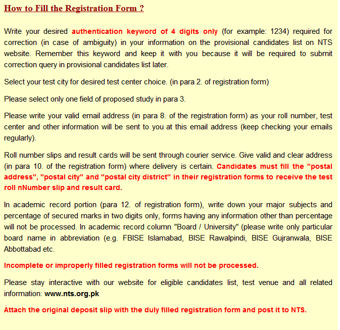 Schedule registration of Graduate assessment test GAT Subject