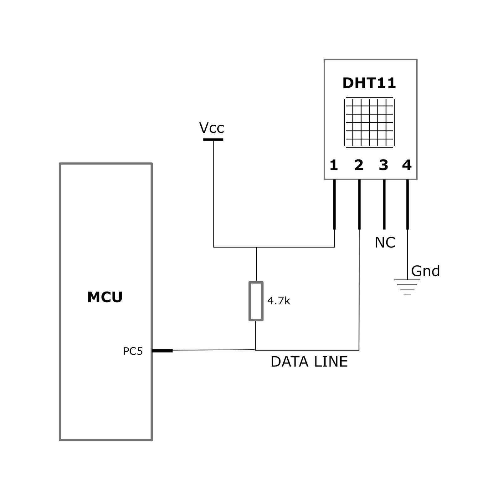 medium resolution of wiring up dht11