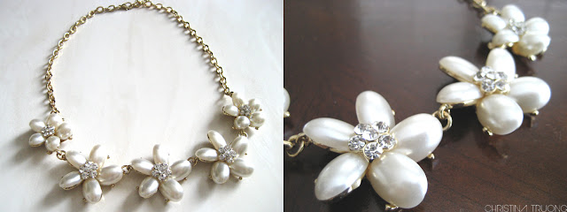 Costa Blanca Floral Pearl Statement Necklace Jewellery Accessories Fashion