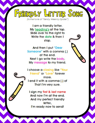 Write A Friendly Letter Activity